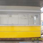 Электрические жалюзи и четырехстворчатое окно